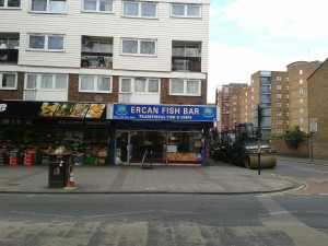 East London Fish and Chips shop challenge